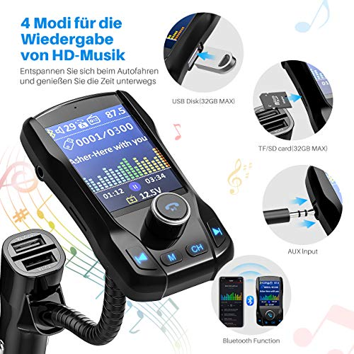Omorc Bluetooth FM Transmitter - 4