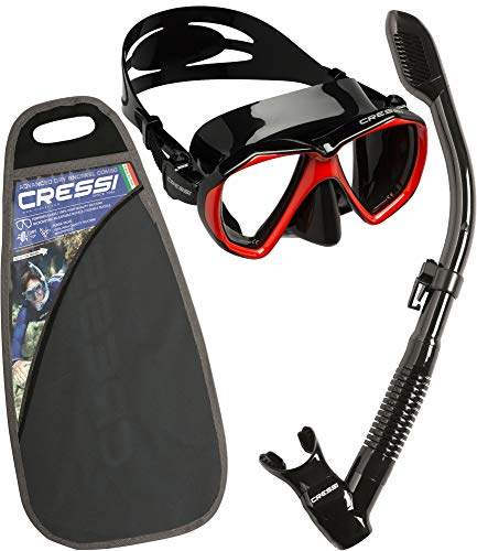 Cressi Professional Erwachsene Schnorchel Set,Taucherbrille mit Schnorchel