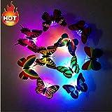MMLC 5 Stücke Bunte Changing Schmetterling LED Nachtlicht Lampe Home Room Party Schreibtisch Wand Dekor Beleuchtung Lichter (Zufällige)