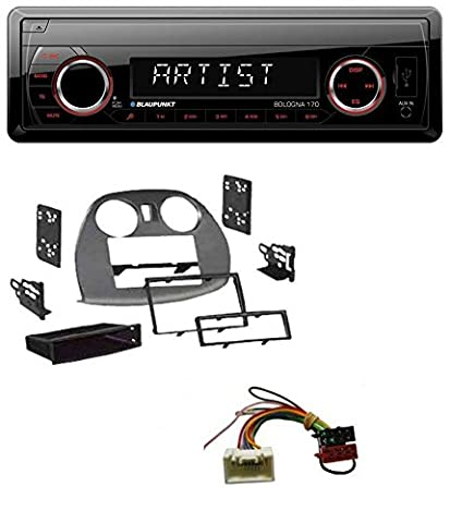 Blaupunkt Bologna 170 SD USB 1DIN MP3 AUX Autoradio für Mitsubishi Eclipse (4G 2005-2012) (4g Datenträger)