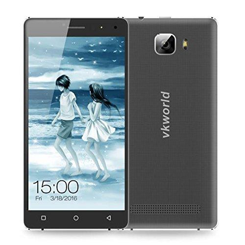 Preisvergleich Produktbild Omiky® Mode 2017 VKworld T3 RAM 2GB + ROM 16GB 4G FDD-LTE 5.0 Zoll Android 5.1 MTK6735 Quad Core 1.0GHZ Smart Phone (Schwarz)