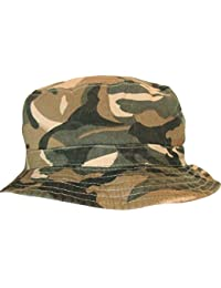 d2f9e00823f Adults Green Camouflage Reversible Bush Bucket Hat Available In 3 Sizes  Quality
