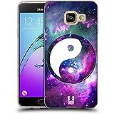 Head Case Designs Nébuleuse Violette Yin Et Yang - Collection Étui Coque en Gel molle pour Samsung Galaxy A3 (2016)
