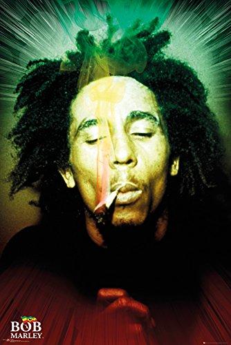 gb-eye-ltd-bob-marley-smoking-portrait-poster-61-x-915-cm