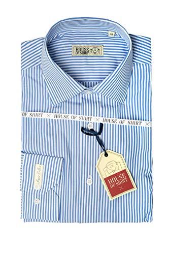 House of shirt, camicia a righe uomo 100% cotone, italian style