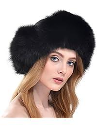 Vemolla Damen Echt Fuchs Pelz Hut Russland Mütze