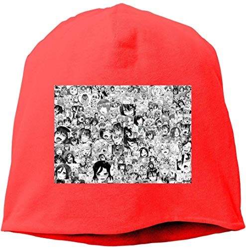 Imagen de hentai girl waifu ahegao pleasure face fashion unisex autumn/winter knit cap hedging cap casual cap cartoon funny hedging cap beanie caps hats