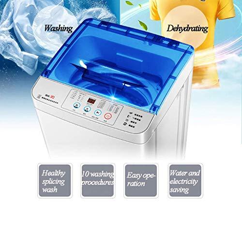 MY1MEY Mini Lavatrice lavasciuga Portatile Completamente Automatica 4.8kg / 10.5lbs Che Lava Singola Vasca da Bagno con la Maniglia del canestro di Scarico Manopola di Controllo Intelligente