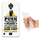 WoowCase Hisense C20 King Kong II 4G Hülle, Handyhülle Silikon für [ Hisense C20 King Kong II 4G ] Motivierungssatz - Push Yourself Handytasche Handy Cover Case Schutzhülle Flexible TPU - Transparent