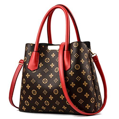 Applique Messenger Bag (Sunonvi Mode-Stil Damen Tasche, Appliques Messenger Bag, einzelne Schulter Diagonal große Kapazität Handtasche)