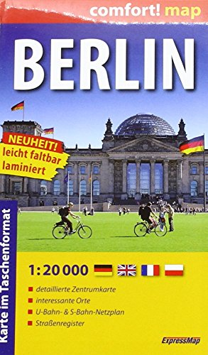 Berlin 1 : 20 000 (Deutsche Version): ExpressMap. leicht faltbar laminiert. detalierte Zentrumkarte, interessnate Orte, U-Bahn-& S-Bahn-Netztplan, Straßenregister