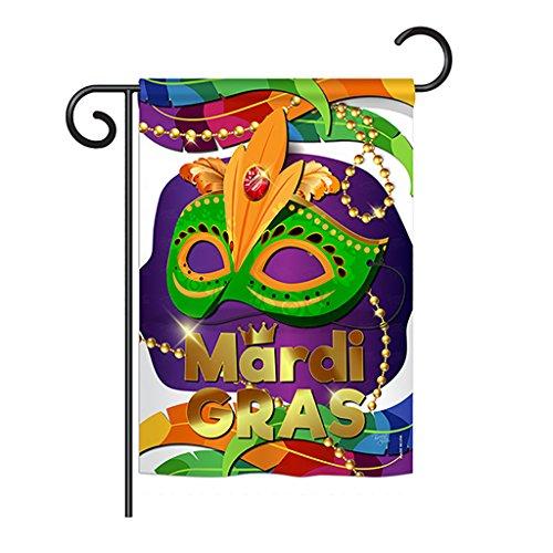 Breeze Decor G168011 Mardi Gras Maske Spring Mardi Gras Impressions Dekorative vertikale Gartenflagge 33 x 47 cm, Bedruckt in den USA Mehrfarbig -