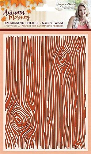 Sara Firma Autunno mattina cartella in legno naturale, arancione, 5x 7