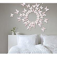 Extsud 12 Stück 3D Schmetterlings Wandaufkleber Wandsticker Wandtattoo  Wanddeko Mit Kristall Dekor Für Wohnzimmer, Kinderzimmer