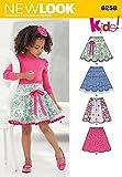 New Look Kinder Leicht Schnittmuster 6258) Circle Röcke mit elastischem Bund