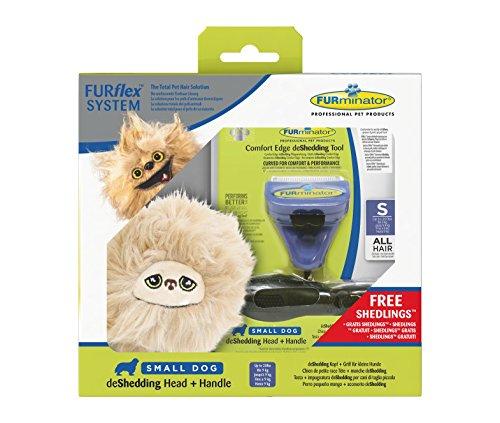 FURminator 142485 FURflex Fellpflege Geschenkbox für Hunde, deShedding-Tool mit Shedling-Spielzeug, größe S, lila