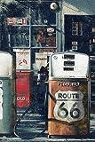 Laminiertes/verkapselter Route 66Gas Station Pumpen Poster Maßnahmen 91,4x 61cm (91,5x 61cm)