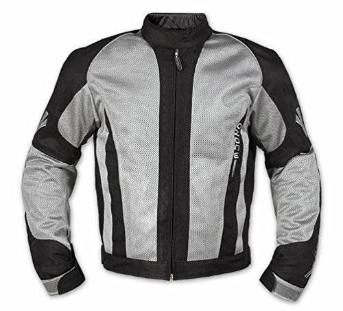 Giacca-Mesh-Traforato-Traspirante-Tessuto-Tecnico-Moto-Touring-Sport-Grigio-M