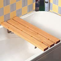 "Bath Board Wooden Slatted Metal Brackets 26""/67cm"