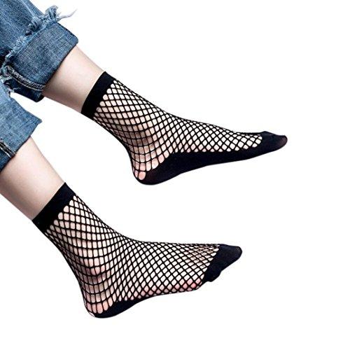 Mädchen Socken Spitze Netzstrümpfe Netz Plain Top-kurze Söckchen stilvolle (A) (Quick-kinder Kostüme)