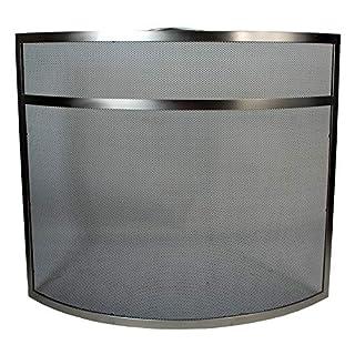simpa A La Mode Fire Guard Fire Place Screen - Study Freestanding Black Powder Coated Steel Fireplace Accessory - 63.5cm (H) x 72.5cm (W) x 15.5cm (D)
