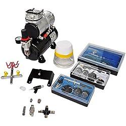 VidaXL 140284 Kit compresseur Airbrush professionnel avec 3 pistolets
