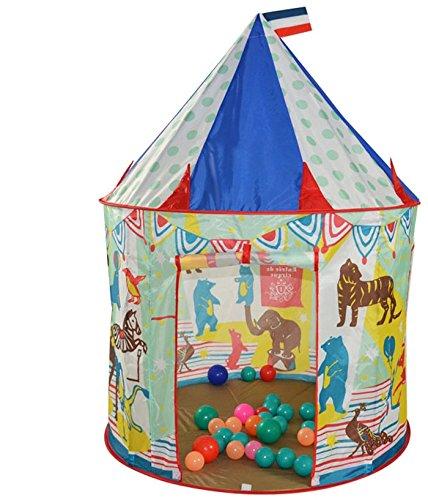 Kinder Bällebad Zelt Spielzelt Jungen Schloss Burg (Zirkus)