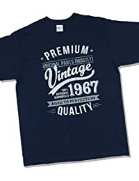 1967 Vintage Year - Aged To Perfection - 50 Ans Anniversaire T-Shirt pour Homme