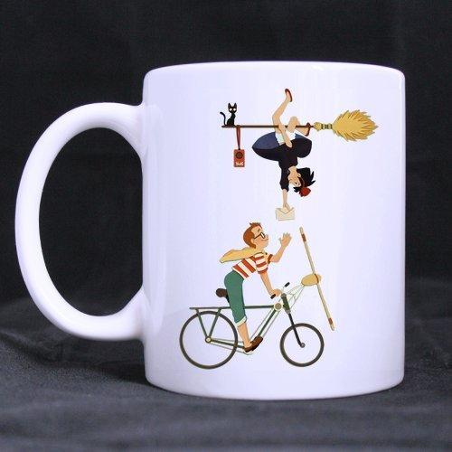 Fantastique Mug Service de livraison de Kiki personnalisé Mug à café ou Tasse à thé, Matériau Céramique Tasses, Blanc DIY Tasses