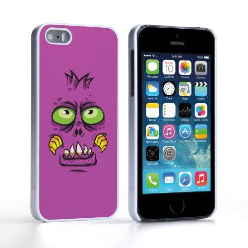 Caseflex Coque iPhone 5 / 5S Etui Pourpre Monstre Dur Housse