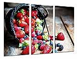Cuadro Fotográfico Fruteria, Frutas Bosque Cesta, Fresas, Moras, Arandanos Tamaño total: 97 x 62 cm XXL