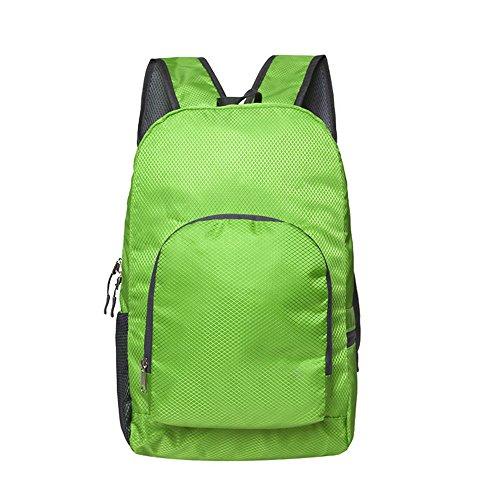 Dlflyb Outdoor Rucksack Super Licht Outdoor Rucksack Schultern Wasserdichte Tasche Falten green