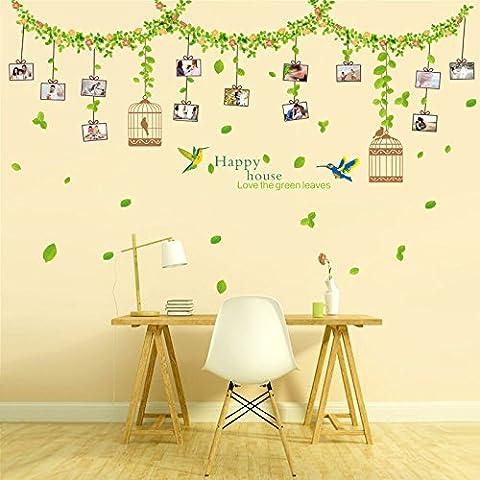 Imperméable Adhésif Adhésif autocollant Fleur Vine Photo Mur Peintures murales Décorations maison pour salon Windows Décorations maison pour