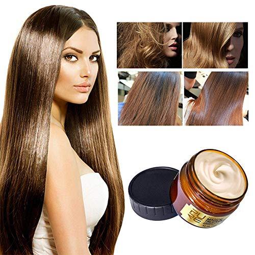 PURC Maschera magica per trattamento dei capelli alla cheratina 60ML con 2 asciugamani, riparazione della radice dei capelli in 5 secondi, trattamento avanzato delle radici dei capelli molecolari