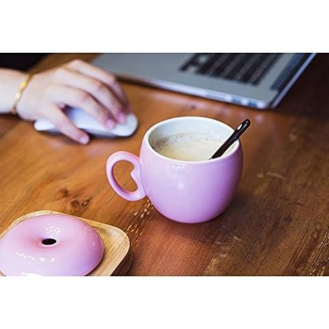La taza con tapa, con una cuchara creative tazas de cerámica mugs taza de café taza parejas minimalista tazón de agua preciosa copa de