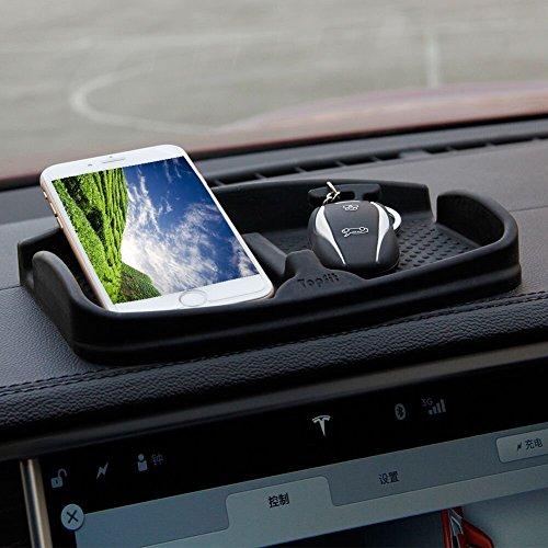 Dash Matte Auto Phone Halter Griffigen Mobile Armaturenbrett Wiege für Smart Telefon Münzen Stift Sonnenbrille