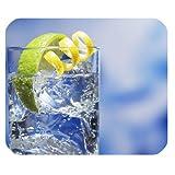 kohlensäurehaltiges Wasser Lemon Mousepad Personalisierte Custom Mauspad Oblong Geformte in 25x 20cm Gaming Maus Pad/Matte