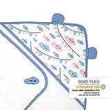 Premium Baby Handtuch mit Kapuze, Extra Weich & Groß, Doppelt Saugfähig, OEKO-TEX zertifiziert,100% Frottee Baumwolle, behält Form & Farbe, 100x100cm, Frei von Schadstoffen, Wolke von emma & noah