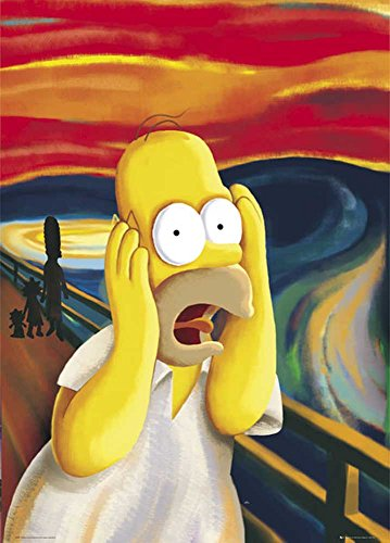 the-simpsons-scream-sos-tv-serie-affiche-poster-geant-taille-100-x-140-cm