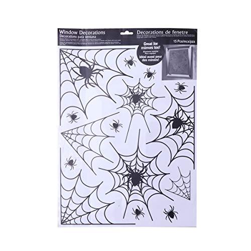 Spinnennetz Fenster Aufkleber für Zimmer Bar Verein (Schwarz) ()