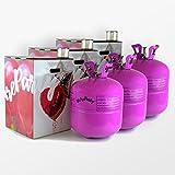 Pack Maxi Triple - 3 bombonas de helio de 0.42m3 para 150 globos