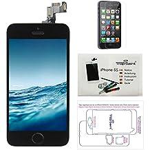 Para iPhone 5S Pantalla Negro COMPLETA Premium Kit de reparación LCD - Trop Saint® + Fim Protector
