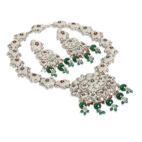 janeo-jewellery-sets-luxury-3-4-pieces-homme-argent-plaque-rhodium-perles-vertes-sur-rhodium