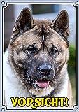 Petsigns Hundeschild mit dem American Akita - uv-beständiges Metallschild in TOP Qualität, 1. DIN A5