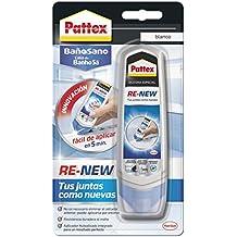Pattex Re-New - Silicona, color blanco