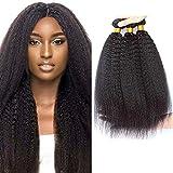 9A cheveux naturel brésilienne tissage Yaki cheveux raides tissant Extensions de cheveux humains non transformés à 100% 12 14 16 Inch