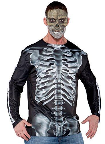 Kostüm Zubehör Skelett Röntgenbild T-Shirt Herren (Skelett Kostüm T-shirt)