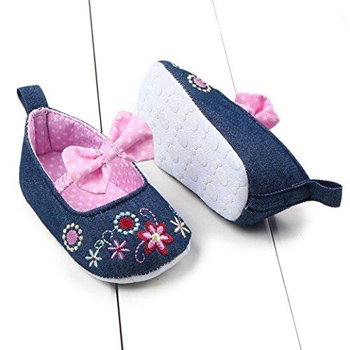Hunpta Neue jungen Lauflernschuhe Kleinkind Mädchen weichen Sohle Krippe Schuhe Sneaker Babyschuhe (11, Rosa) Rosa