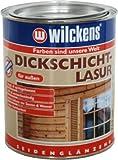 WILCKENS Dickschichtlasur 750ml ODER 2,5L Holzlasur FARBAUSWAHL seidenglänzend (Nussbaum,2,5 Liter)