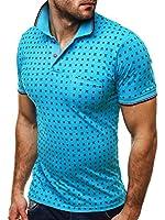 OZONEE Herren T-Shirt mit Motiv Kurzarm Polohemd Poloshirt Shirt Audruck Figurbetont Kentkragen JACK DAVIS 071